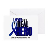 Never Knew A Hero 2 Blue (Fiancée) Greeting Cards