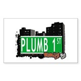 PLUMB 1 ST, BROOKLYN, NYC Rectangle Decal
