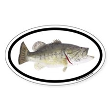 Largemouth Bass Euro Oval Decal