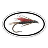 Flyfishing Dry Fly Euro Oval Decal