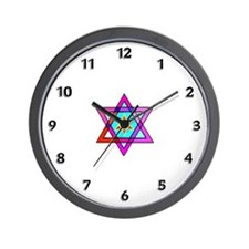 Jewish Star Of David Wall Clock