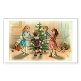 Victorian Xmas Rectangle Sticker 50 pk)
