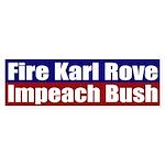 Fire Karl Rove (bumper sticker)