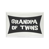 Grandpa of Twins Rectangle Magnet