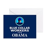 Blue Collar Workers for Obama Greeting Cards (Pk o