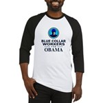 Blue Collar Workers for Obama Baseball Jersey
