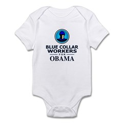 Blue Collar Workers for Obama Infant Bodysuit