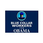 Blue Collar Workers for Obama Rectangle Magnet