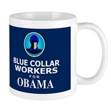Blue Collar Workers for Obama Dark Mug