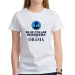 Blue Collar Workers for Obama Women's T-Shirt