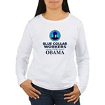 Blue Collar Workers for Obama Women's Long Sleeve