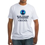 Blue Collar Workers for Obama Fitted T-Shirt