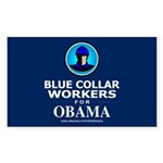 Blue Collar Workers for Obama Rectangle Sticker 1