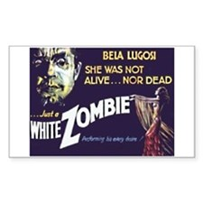 White Zombie Rectangle Decal
