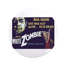 "White Zombie 3.5"" Button"