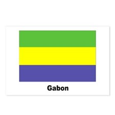 Gabon Flag Postcards (Package of 8)