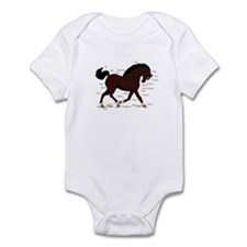 Dark Brown Horse Star Anatomy Chart Infant Bodysui