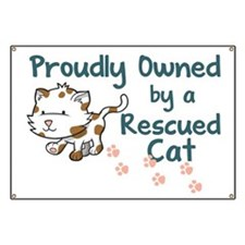 Proudly Owned (Cat) Banner