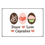 Peace Love Cupcakes Banner