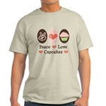 Peace Love Cupcakes Light T-Shirt