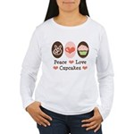 Peace Love Cupcakes Women's Long Sleeve T-Shirt