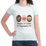 Peace Love Cupcakes Jr. Ringer T-Shirt