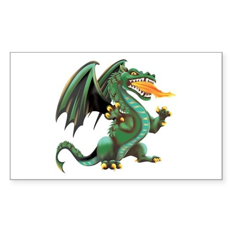 Dragon Rectangle Sticker