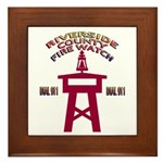 Rivco Firewatch Framed Tile