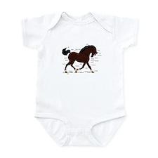 Dark Brown Pony Socks Anatomy Infant Bodysuit