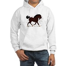 Dark Brown Pony Socks Anatomy Hoodie