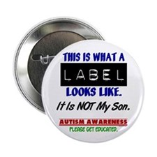 "Label 1 Autism (Son) 2.25"" Button"