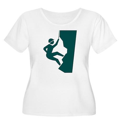 Rock Climbing Women's Plus Size Scoop Neck T-Shirt