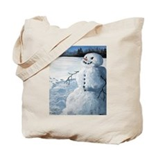 Unique Winter man Tote Bag