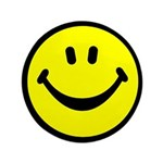 "Happy Face 3.5"" Button (100 pack)"