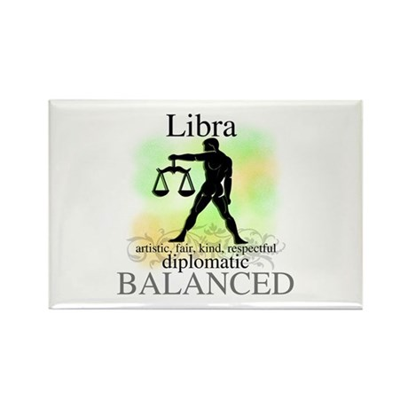 Libra the Scales Rectangle Magnet