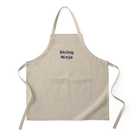 Skiing Ninja BBQ Apron
