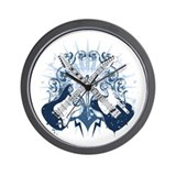 Guitars Bolts Ornament Wall Clock