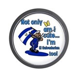 Not only am i cute I'm El Salvadorian Wall Clock