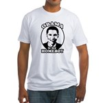 Obama is my homeboy Fitted T-Shirt