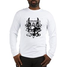 Vintage Flying Skull Long Sleeve T-Shirt