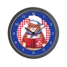 Kitchen Cat Wall Clock