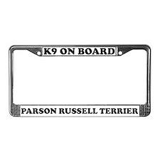K9 Parson Russell Terrier License Plate Frame