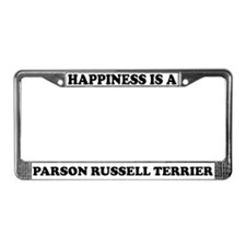 Happiness Is A Parson Terrier License Plate Frame