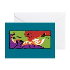 Caribbean Limbo Dance Greeting Cards (Pk of 20)