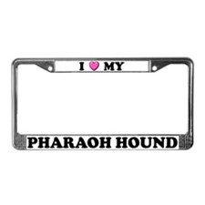 I Heart My Pharaoh Hound License Plate Frame