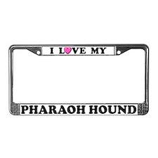 I Love My Pharaoh Hound License Plate Frame