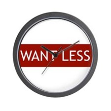 Want Less - Red Wall Clock