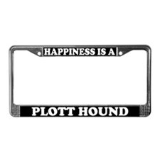 Happiness Is A Plott Hound License Plate Frame