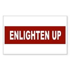 Enlghten Up - Red Rectangle Decal