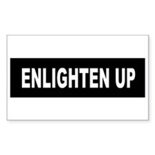 Enlighten Up - Black Rectangle Decal